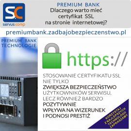 Dlaczego warto mieć certyfikat SSL na stronie internetowej? Servus CompPremium Bank