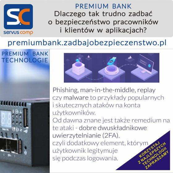 Nowa metoda implementacji uwierzytelnienia 2FA premiumbank.zadbajobezpieczenstwo.pl