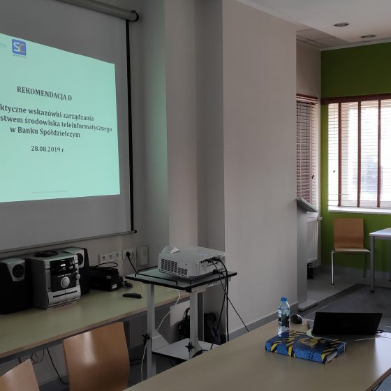 Szkolenie REKOMENDACJA D Praktyczne Wskazówki Zarządzania Bezpieczeństwem Środowiska Teleinformatycznego w Banku Spółdzielczym Servus Comp